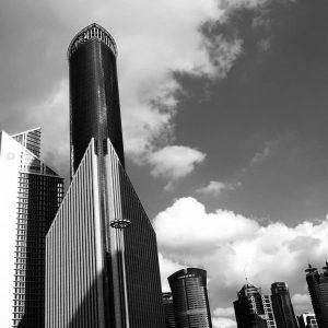Hochhäuser bis in die Wolken
