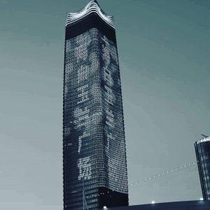 Hochhaus in Shanghai am Fluss