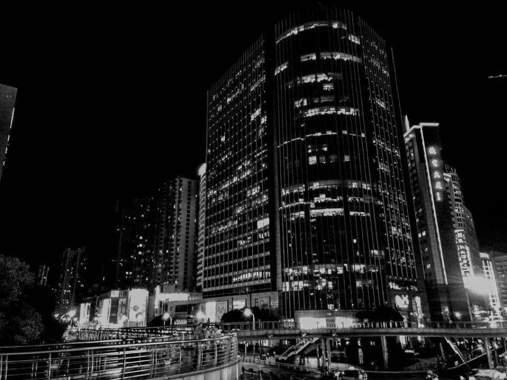 Skyline Shanghai bei Nacht 1