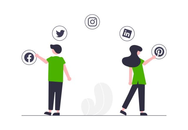 Social Media ist modern