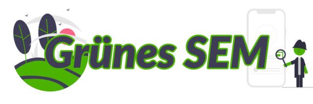 Onlinemarketing mit grünem Hintergrund